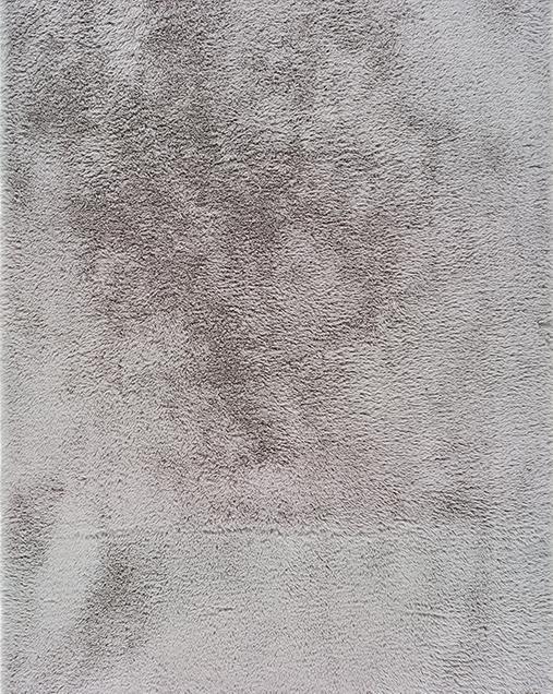 Alfombra Shaggy de pelo largo Alpaca Liso Plata