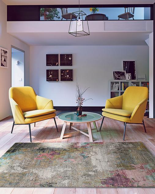 Alfombra Abstracta de estilo Vintage Amira 20099 Multi