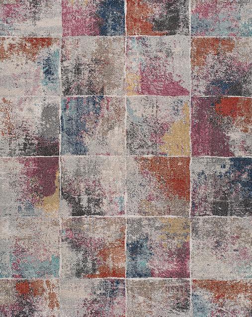Alfombra Abstracta de estilo Vintage Amira 54501 Multi