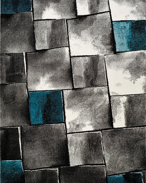 Alfombra Geométrica Amy 21609 Azul