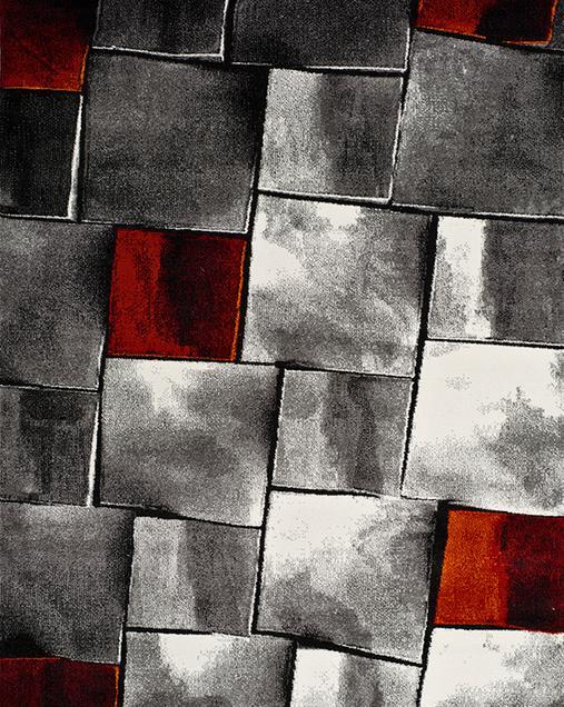 Alfombra Geométrica Amy 21609 Rojo