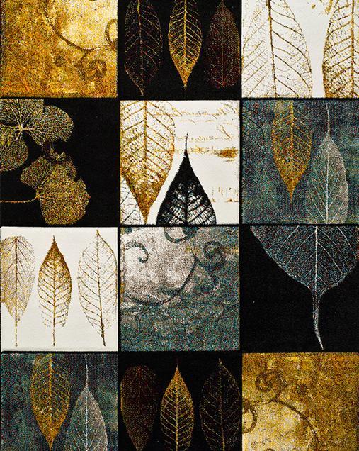 Alfombra Patchwork con motivos Florales-Naturaleza Amy 21672 Multi
