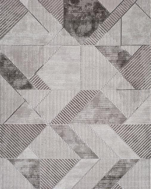 Alfombra Geométrica Artist 23347 Gris