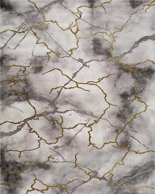 Alfombra de Arte Abstracto Artist 23363 Gris