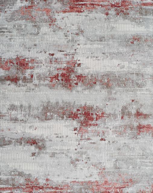 Alfombra Abstracta de estilo Vintage Babek 5467 Gris