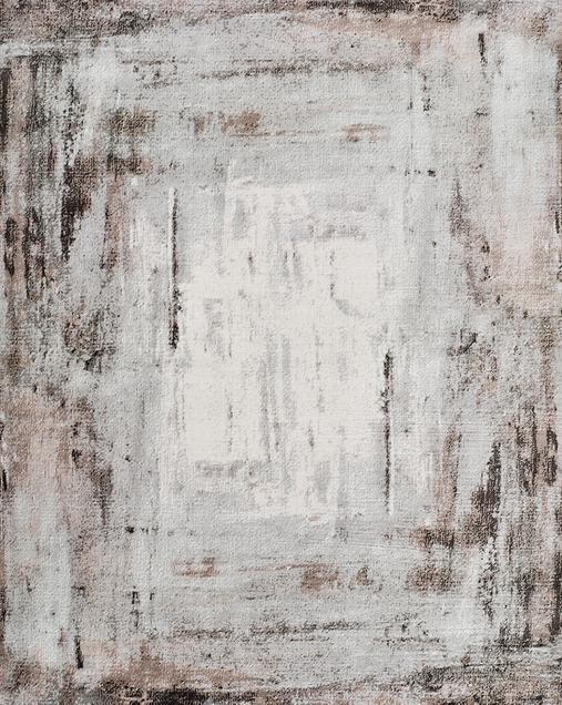 Alfombra Abstracta de estilo Vintage Babek 5474 Gris