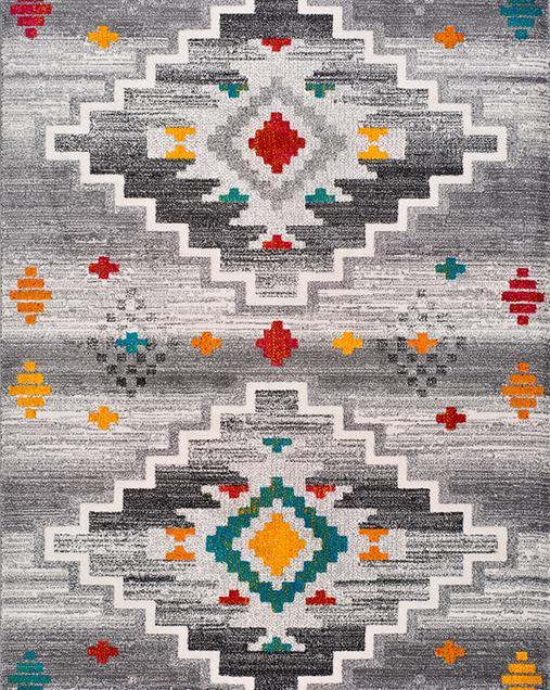 Alfombra Étnica con toques Tradicionales Badari 16533 Multi