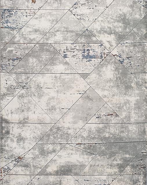 Alfombra Geométrica con Estilo Nóridico Berlin 304 Gris