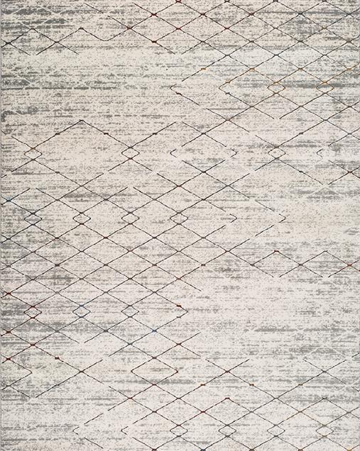 Alfombra Geométrica con Estilo Nóridico Berlin 671 Gris