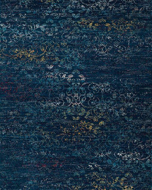 Alfombra Tradicional con toque Vintage Betty 9498 Azul