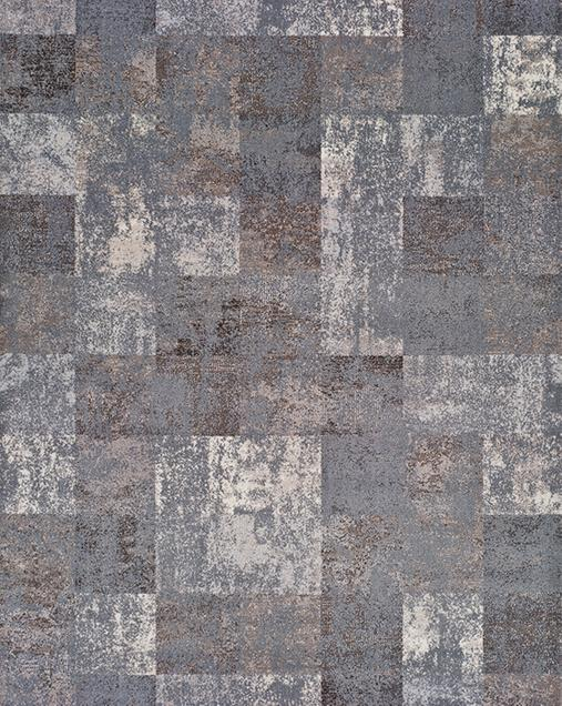 Alfombra Patchwork con toques Vintage Betty 9518 Gris