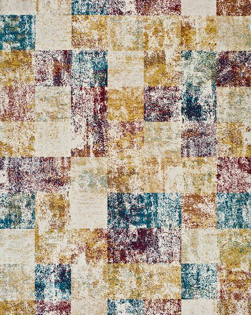 Alfombra Patchwork con toques Vintage Betty 9518 Multi