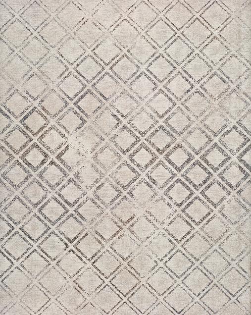 Alfombra Geométrica Betty 9534 Blanco