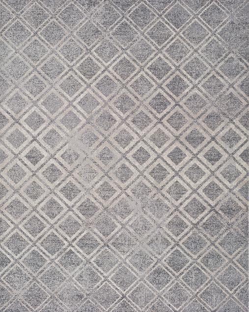 Alfombra Geométrica Betty 9534 Plata