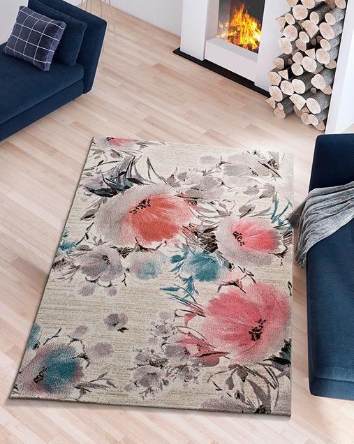 Alfombra con motivos Florales Bukit 16407 Multi