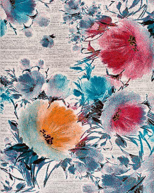 Alfombra con motivos Florales Bukit 16540 Multi