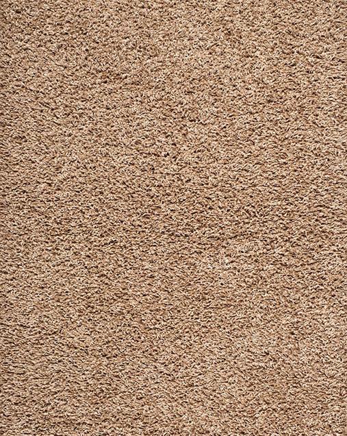 Alfombra Shaggy de pelo largo en color liso Catay 8507 Lino