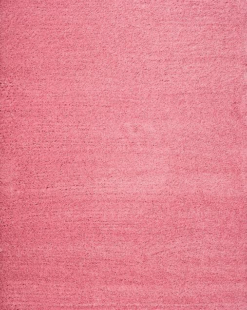 Alfombra Shaggy de pelo largo en color liso Catay 8507 Rosa