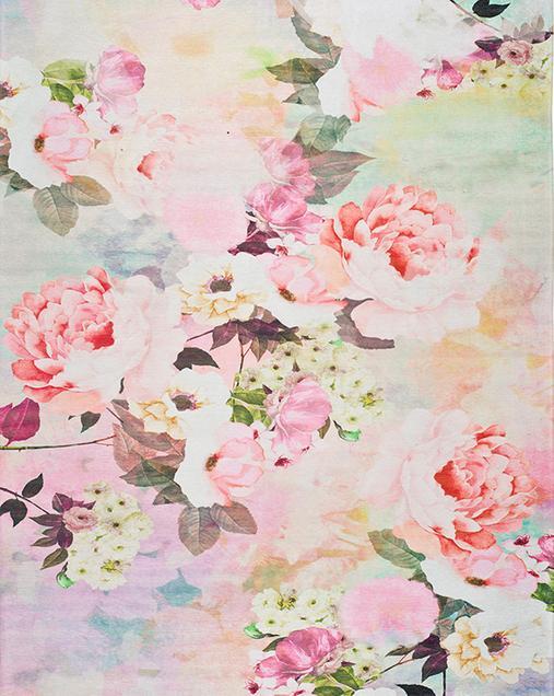 Alfombra con motivos Florales Chenille 1164 Multi