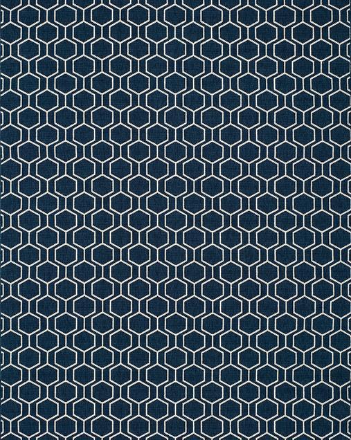Alfombra Geométrica con toques Minimalistas Clhoe 20405 Azul