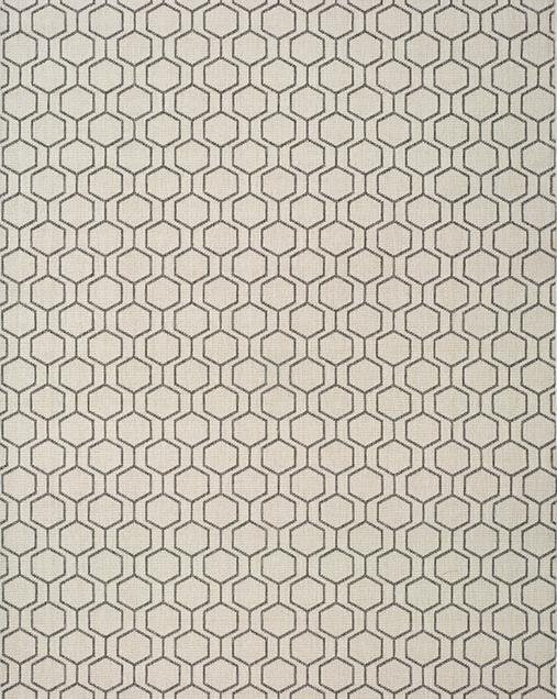 Alfombra Geométrica con toques Minimalistas Clhoe 20405 Plata