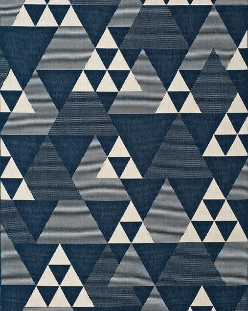 Alfombra Geométrica Clhoe 20409 Azul