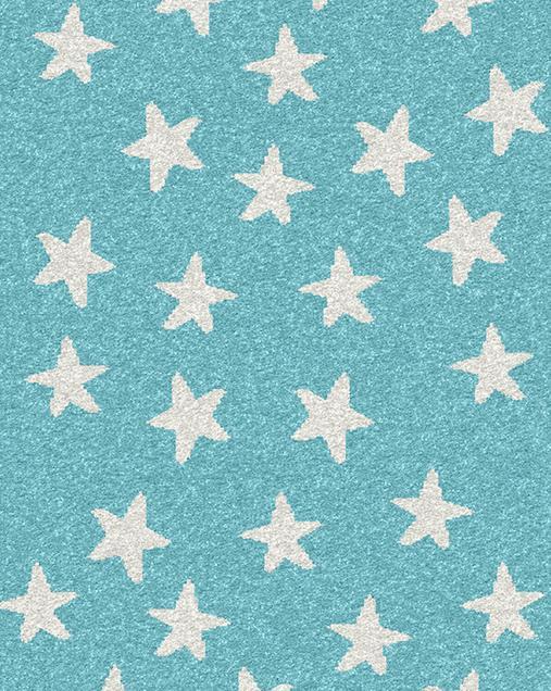 Alfombra con motivos Naturales Cuore 15028 Azul