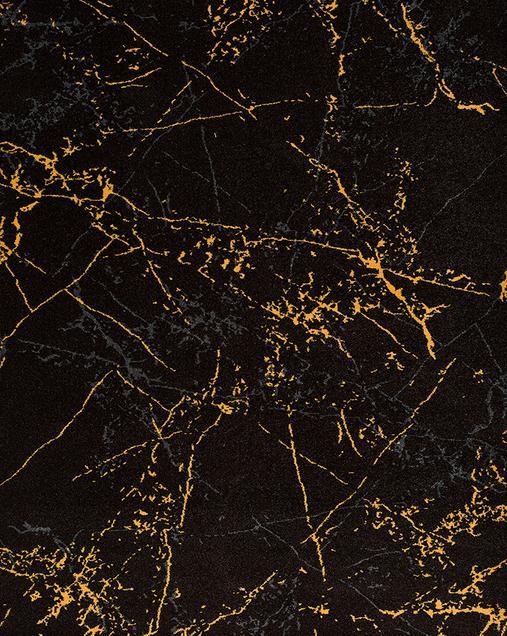 Alfombra Abstracta Dark 12245 Negro