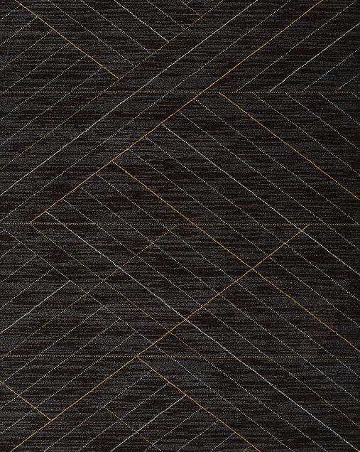 Alfombra Geométrica Dark 12256 Negro
