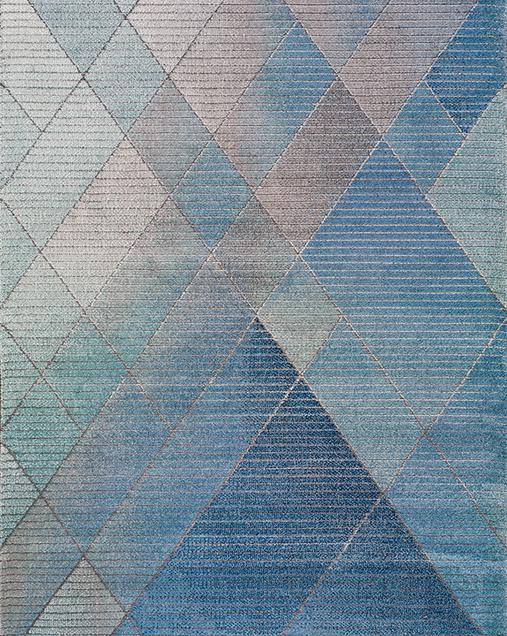 Alfombra Geométrica con Estilo Nóridico Dash 22892 Azul