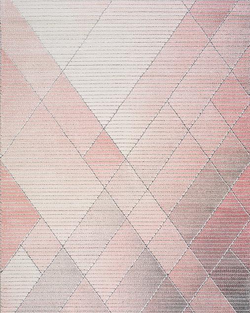 Alfombra Geométrica con Estilo Nóridico Dash 22892 Rosa
