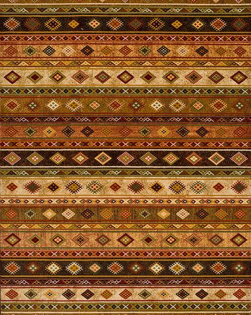 Alfombra Étnica con toques Tradicionales Deir 10067 Multi