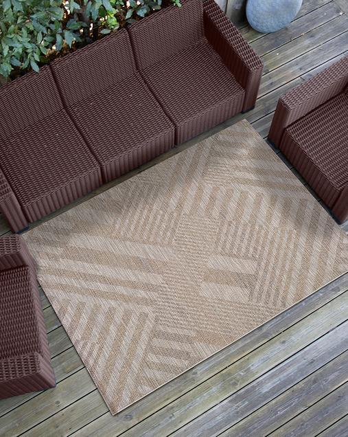 Alfombra Geométrica Indoor-Outdoor Devi 29503 Beig