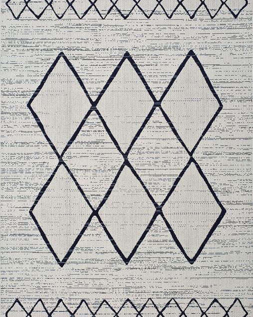 Alfombra Étnica con motivos geométricos Elba 47272 Blanco