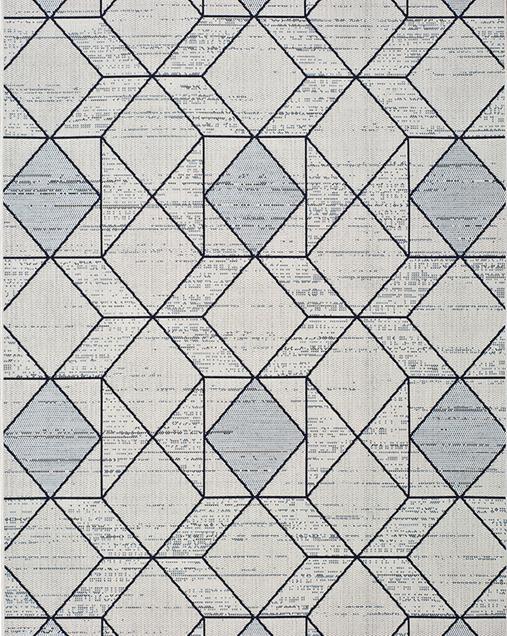 Alfombra Étnica con motivos geométricos Elba 47277 Blanco