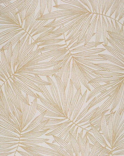 Alfombra con motivos naturales Indoor-Outdoor Hibis 16 Mostaza