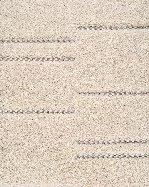 Alfombra Shaggy de pelo largo Kai 117 Blanco