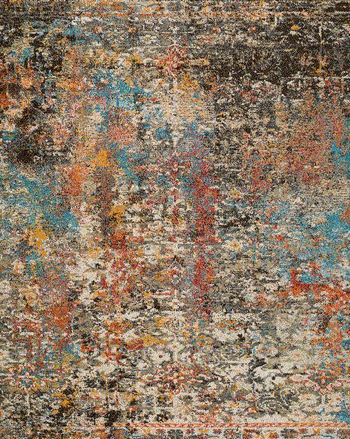 Alfombra Abstracta de estilo Vintage Karia 16561 Multi