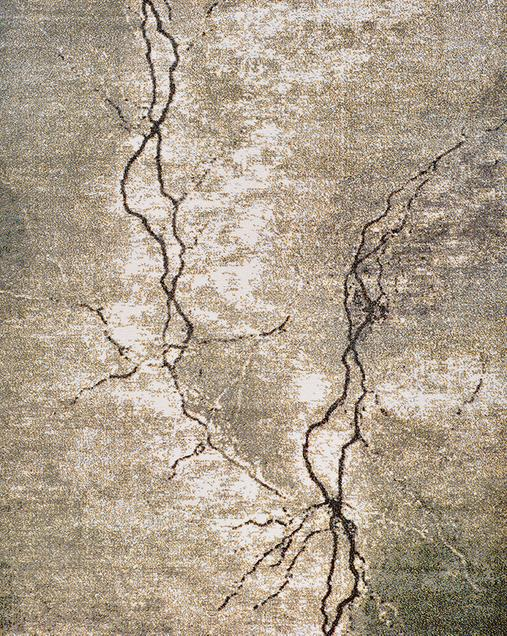 Alfombra Abstracta de estilo Vintage Karia 16570 Gris