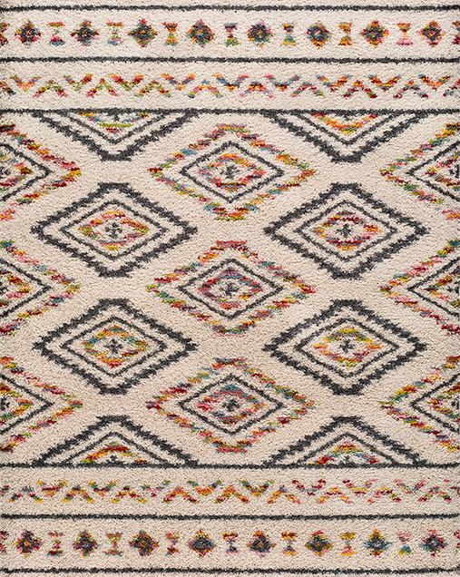 Alfombra Shaggy de estilo Tradicional-Étnica Kasbah 8627 Multi