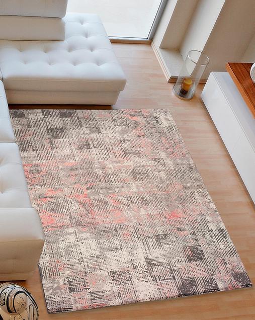 Alfombra Vintage con toques de Arte Abstracto Kerati 23145 Rosa