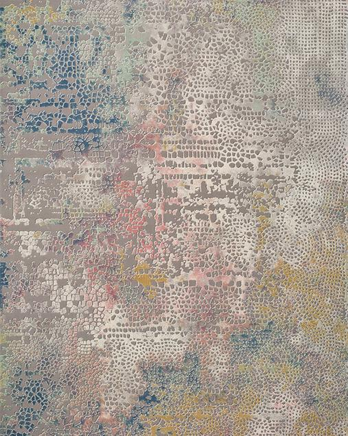 Alfombra Vintage con toques de Arte Abstracto Kerati 23148 Multi