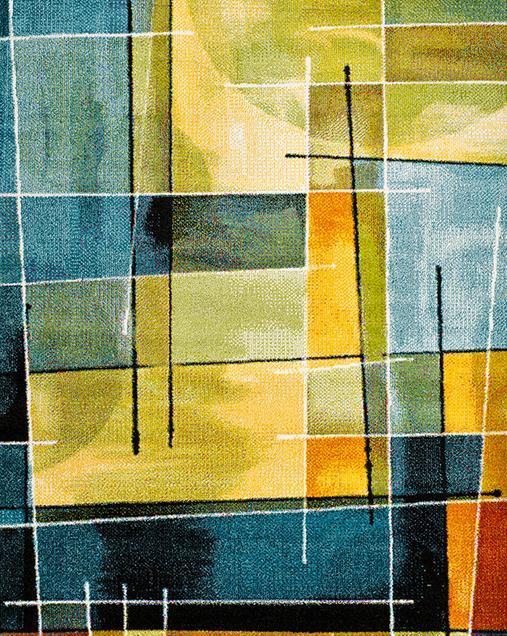 Alfombra Geométrica de Arte Abstracto Lenny 20750 Multi