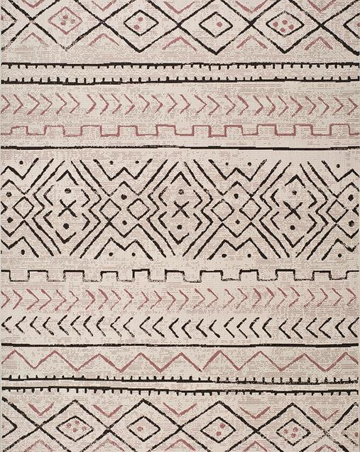 Alfombra Étnica de estilo Vintage Libra 19578 Beig