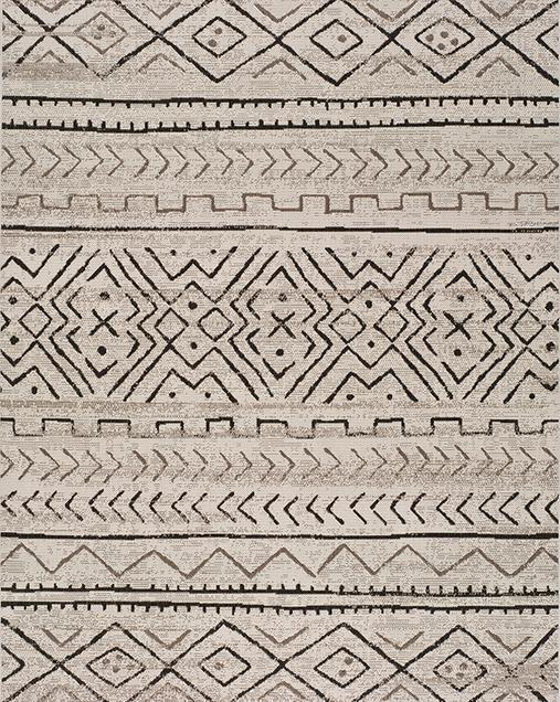 Alfombra Étnica de estilo Vintage Libra 19578 Gris