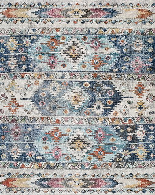 Alfombra Étnica de estilo Vintage Mirva 20047 Multi