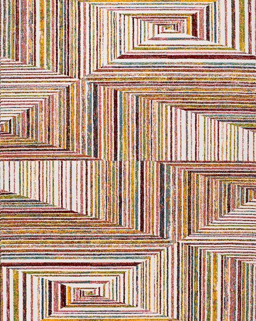 Alfombra Geométrica Moar 16468 Multi