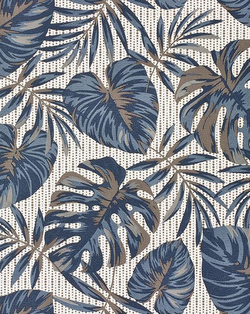 Alfombra con motivos Naturales y Florales Molly FELCI Azul