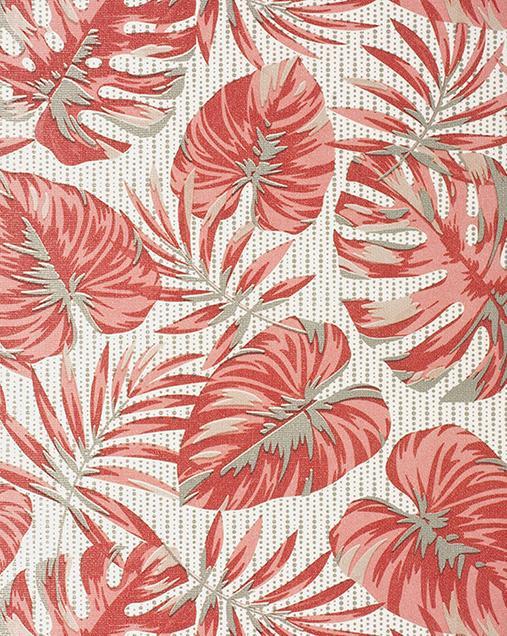 Alfombra con motivos Naturales y Florales Molly FELCI Rojo