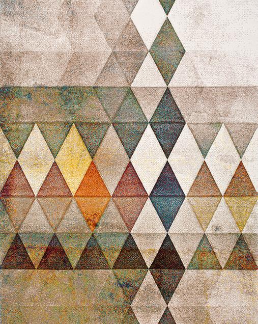 Alfombra Étnica con motivos geométricos Mubis 21420 Multi
